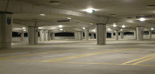 pressure washing parking ramp maintenance